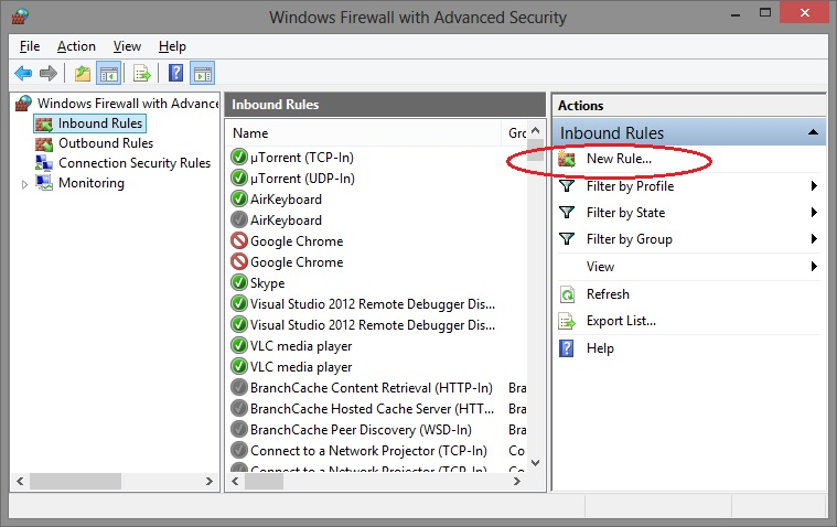 Enable Windows Firewall