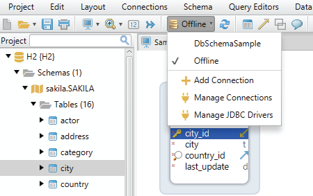 Design database schema offline