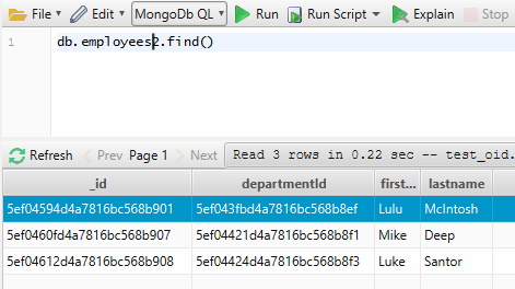 MongoDB Query Editor